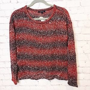 Relativity Knit Striped Sweater w Sequins NWT PS